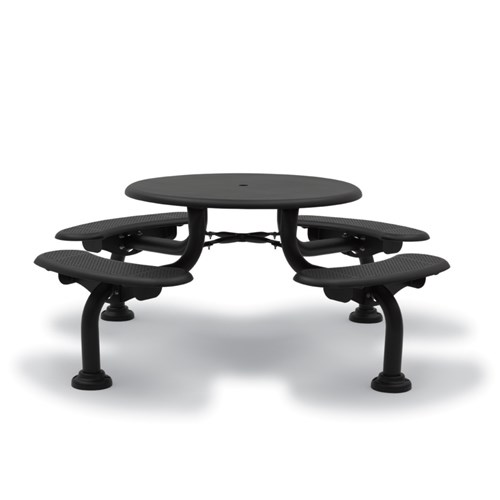 "View Camden 42"" round table - bench seats"