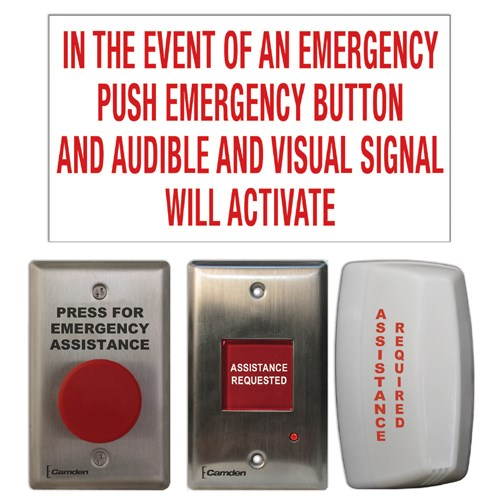 View Emergency Call System Kit: Maintained 'Press For Assistance' Push Button (CX-WEC10)
