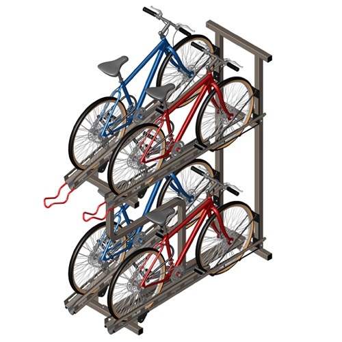 View Quad Hi-Density Bike Rack