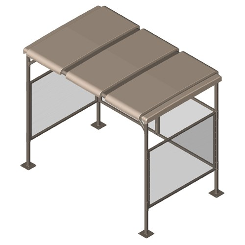 View CyclePort™ 3 Top Bike Shelter