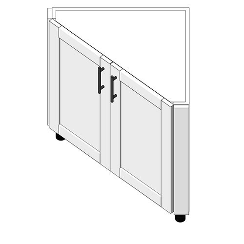 View Cabinet Revit Object: AEB 2 Full Height Doors