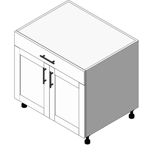 View Cabinet Revit Object: OBD 1 Drawer+ 2 Door