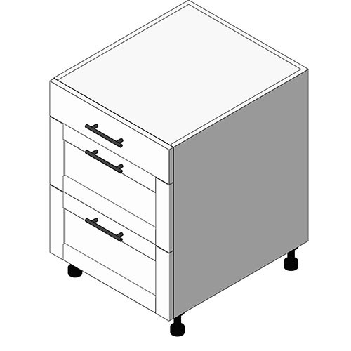 View Cabinet Revit Object: OBM 3 Drawer Cabinet