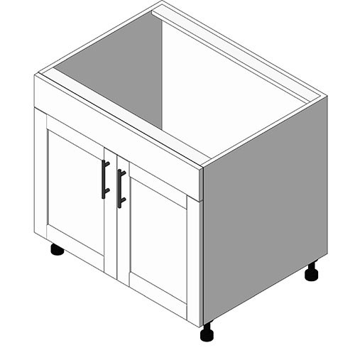 View Cabinet Revit Object: OBS Sink Base + 2 Doors