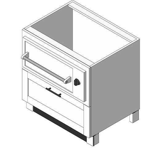 View Cabinet Revit Object: OBWXX10 Warming Drawer Base + Drawer