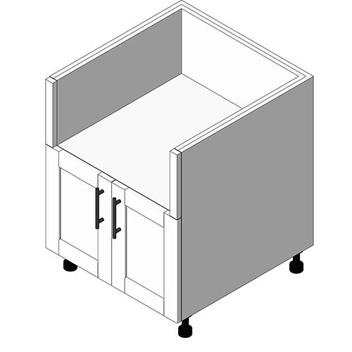 View Cabinet Revit Object: OEB Egg Smoker Grill Base + 2 Doors