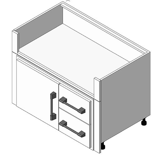 View Cabinet Revit Object: OGFXX00 Under Grill Fridge Grill Base