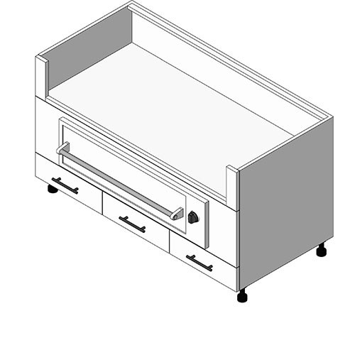 View Cabinet Revit Object: OGWXX30 Warming Drawer + 3 Drawer Grill Base