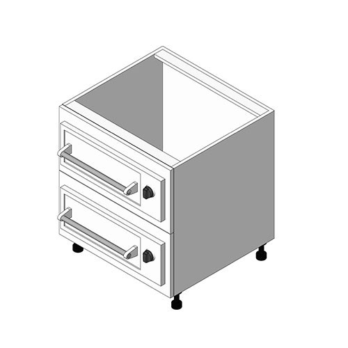 View Cabinet Revit Object: OWD Double Warming Drawer Base