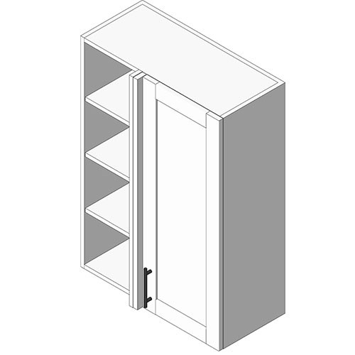 View Cabinet Revit Object: WB Wall Blind Corner Cab 1 Full Height Door