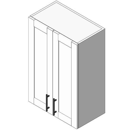 View Cabinet Revit Object: WS Wall Cab 2 Full Height Doors
