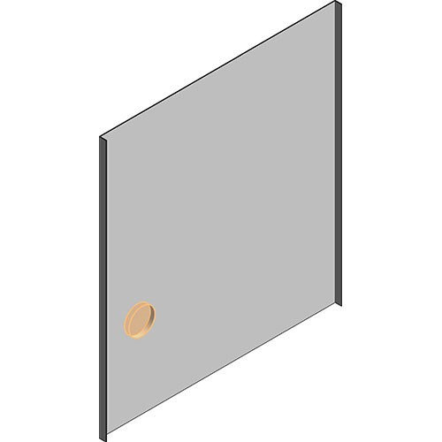 View Cabinet Revit Object: OFE Flush Side Panel RIGHT