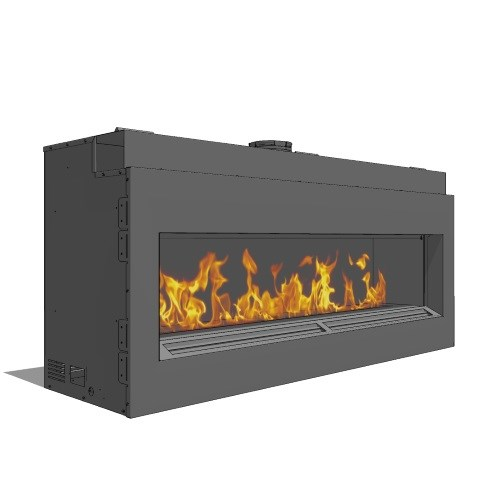 Fire Ribbon Direct Vent 6' Fireplace ( Model 19 )