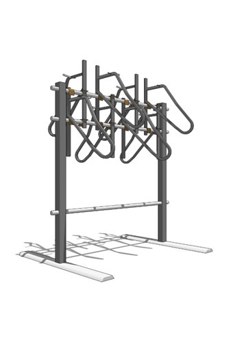 Vertical + Square Tube Bike Rack - Double Sided