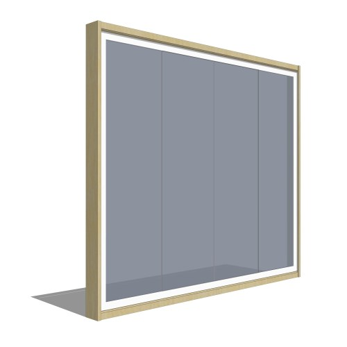 Frameless Sliding Glass Doors: 3D Model