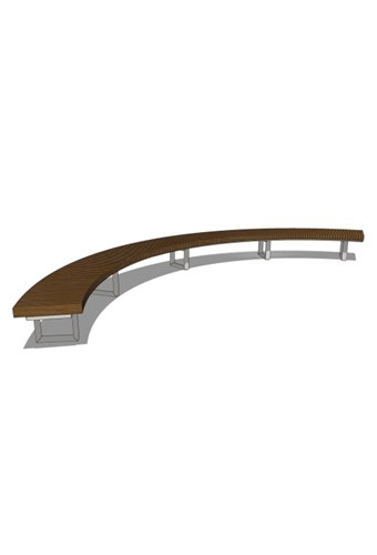 INF24C12120T - Infinity 2' Curved 12120 Bench, Thermory